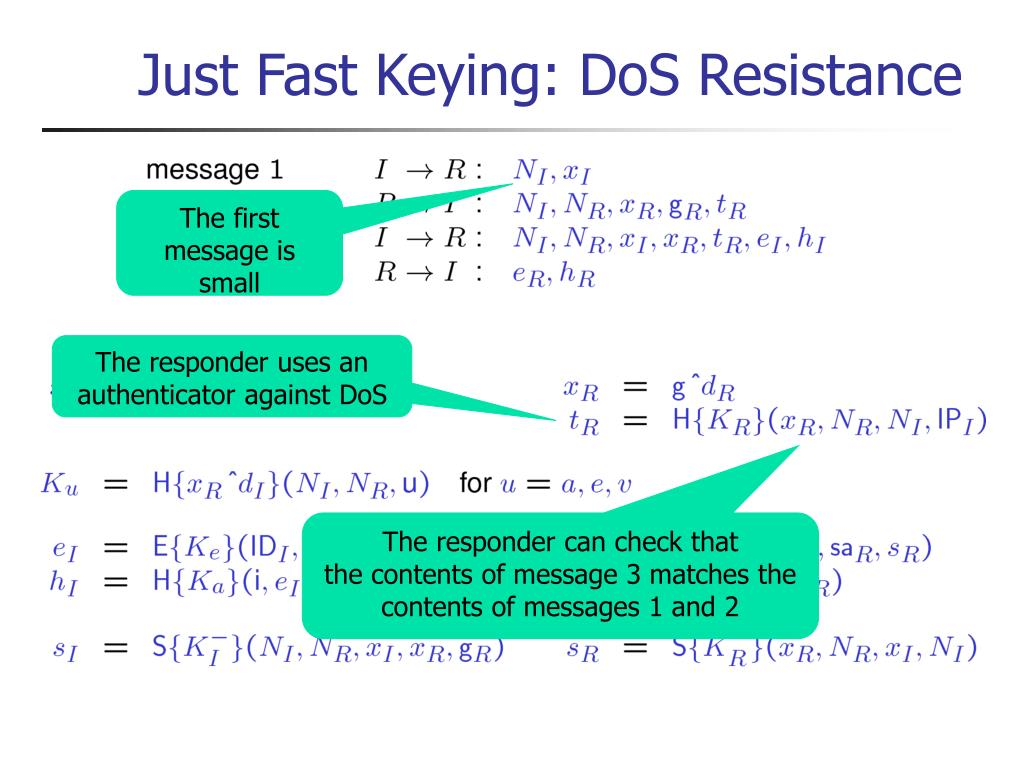 Just Fast Keying: DoS Resistance