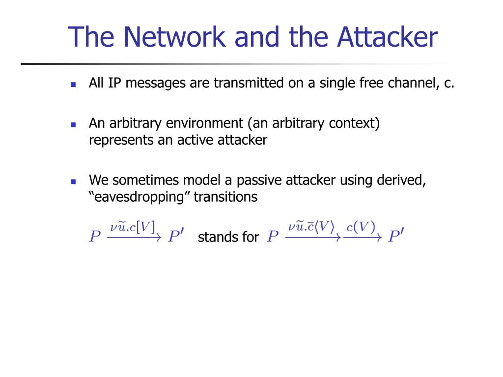 The Network and the Attacker