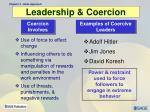 leadership coercion