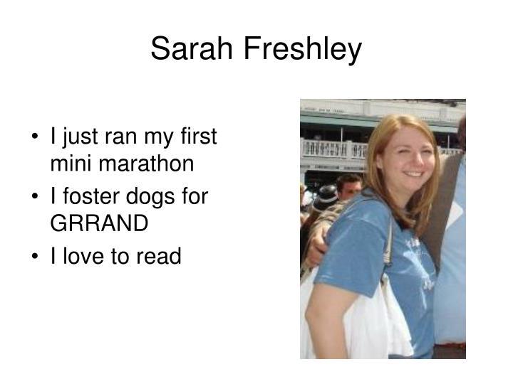 Sarah freshley