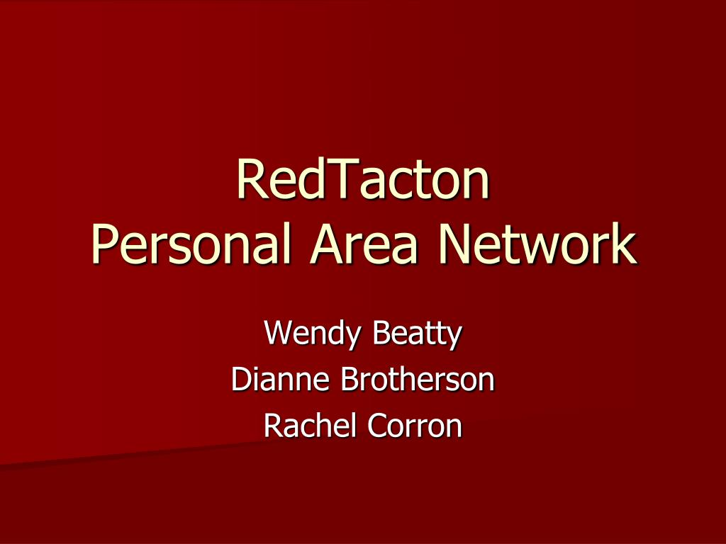 redtacton personal area network l.