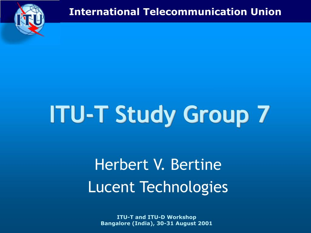 itu t study group 7 l.