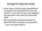 disregard corporate entity