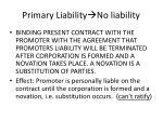 primary liability no liability