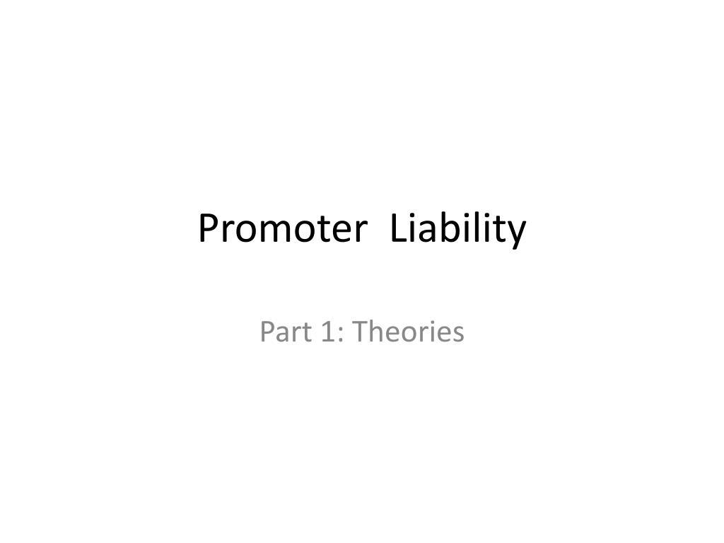 promoter liability l.