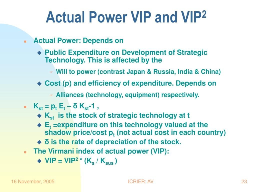 Actual Power VIP and VIP