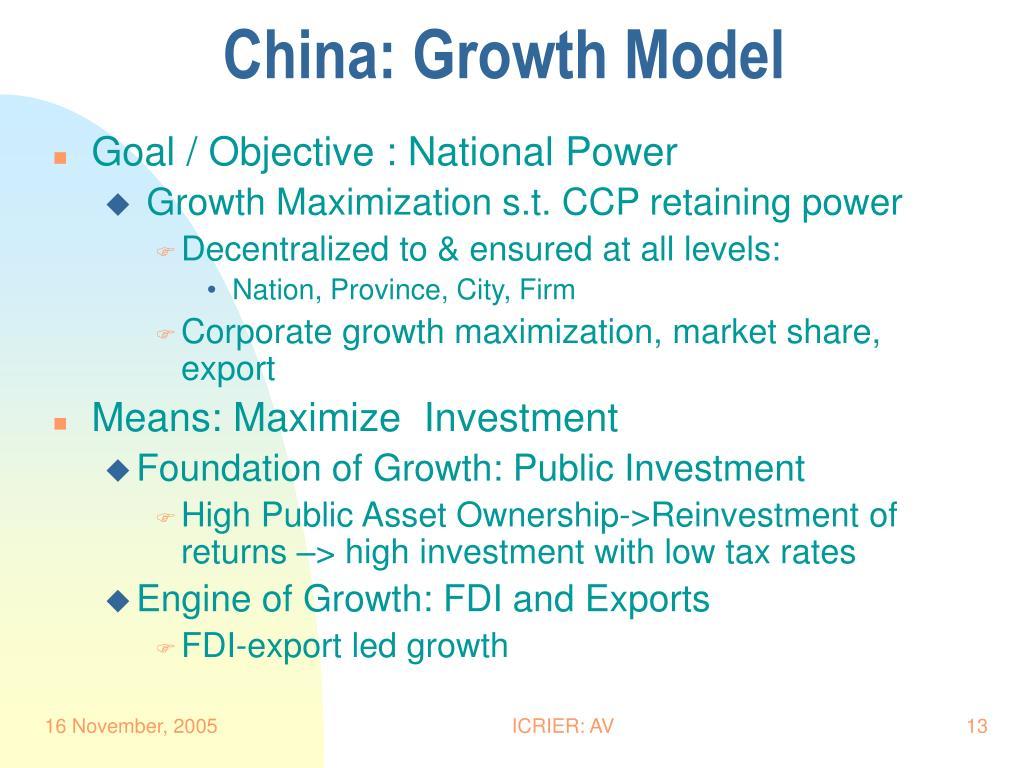 China: Growth Model
