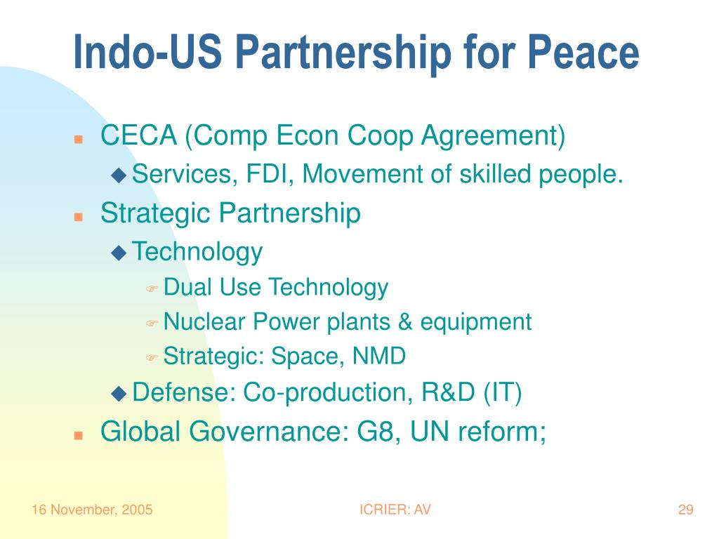 Indo-US Partnership for Peace