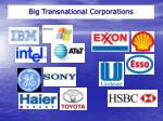 big transnational corporations