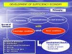 development of sufficiency economy