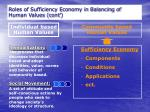 roles of sufficiency economy in balancing of human values cont