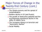major forces of change in the twenty first century cont27