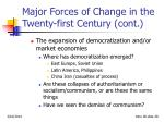 major forces of change in the twenty first century cont28