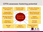 cffa assesses fostering potential
