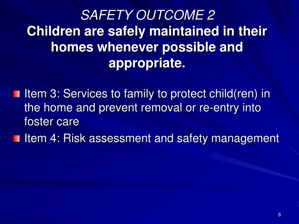 SAFETY OUTCOME 2
