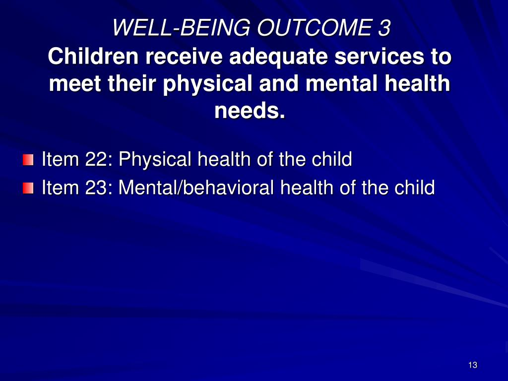 WELL-BEING OUTCOME 3