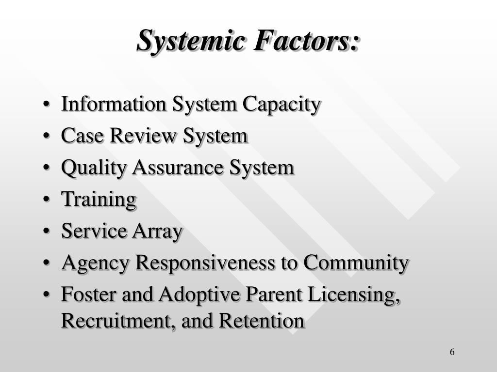 Systemic Factors: