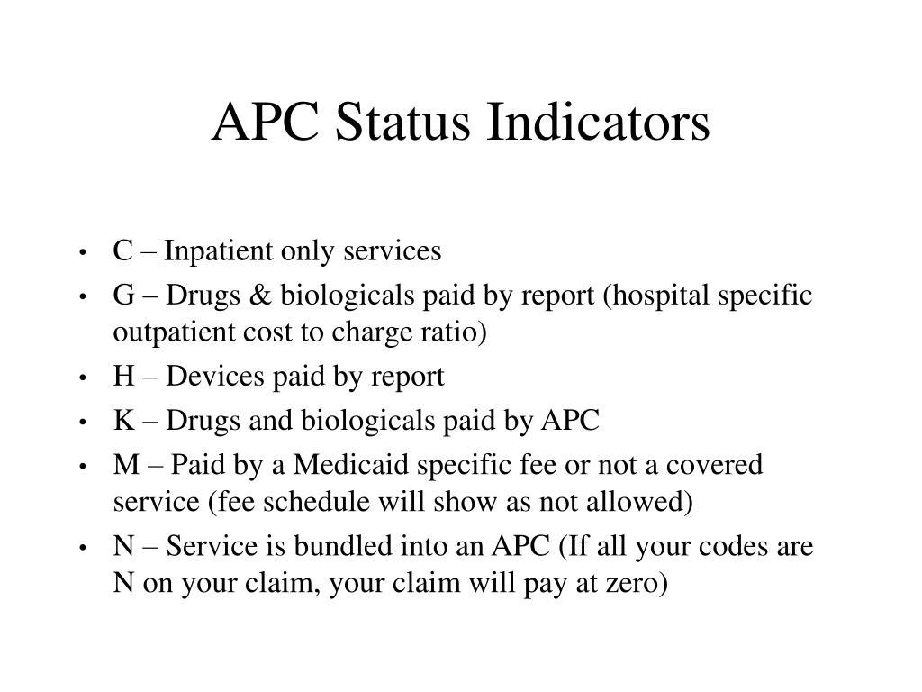 APC Status Indicators