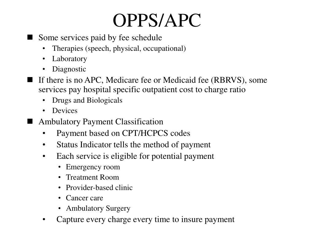 OPPS/APC