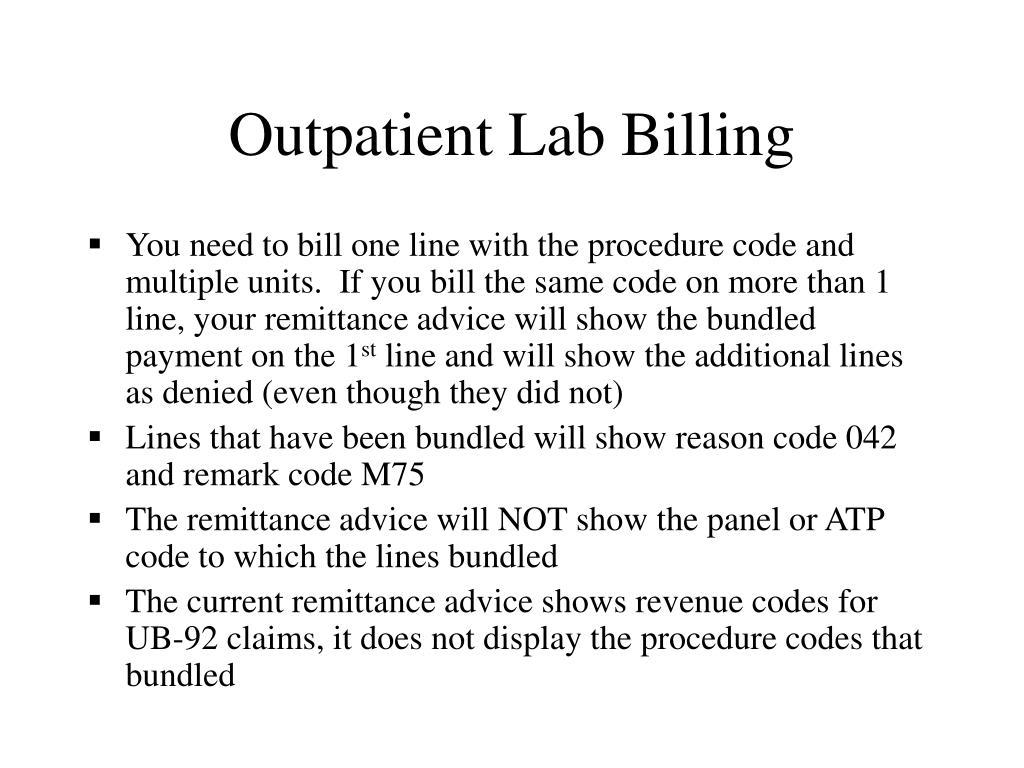 Outpatient Lab Billing