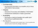 information security cia