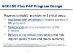 access plus p4p program design
