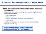 clinical interventions year one