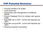 p4p potential revisions