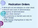 medication orders