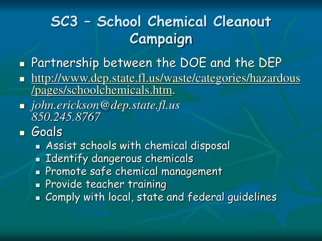 SC3 – School Chemical Cleanout Campaign