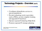 technology projects overview con t