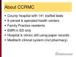 about ccrmc