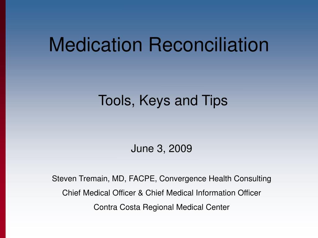 medication reconciliation l.