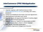 intercommerce cprs webapplication