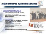 intercommerce ecustoms services