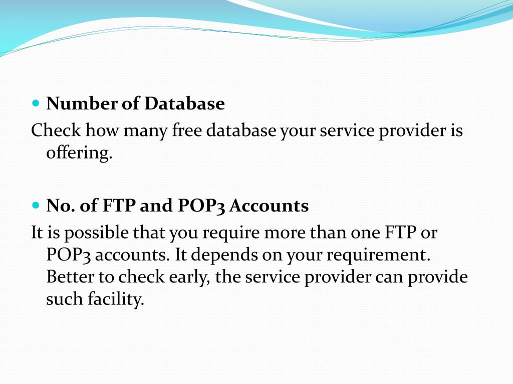 Number of Database