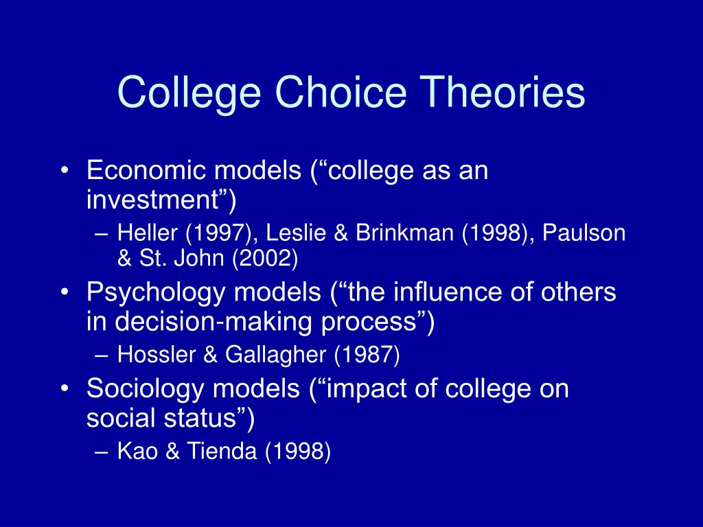 College Choice Theories