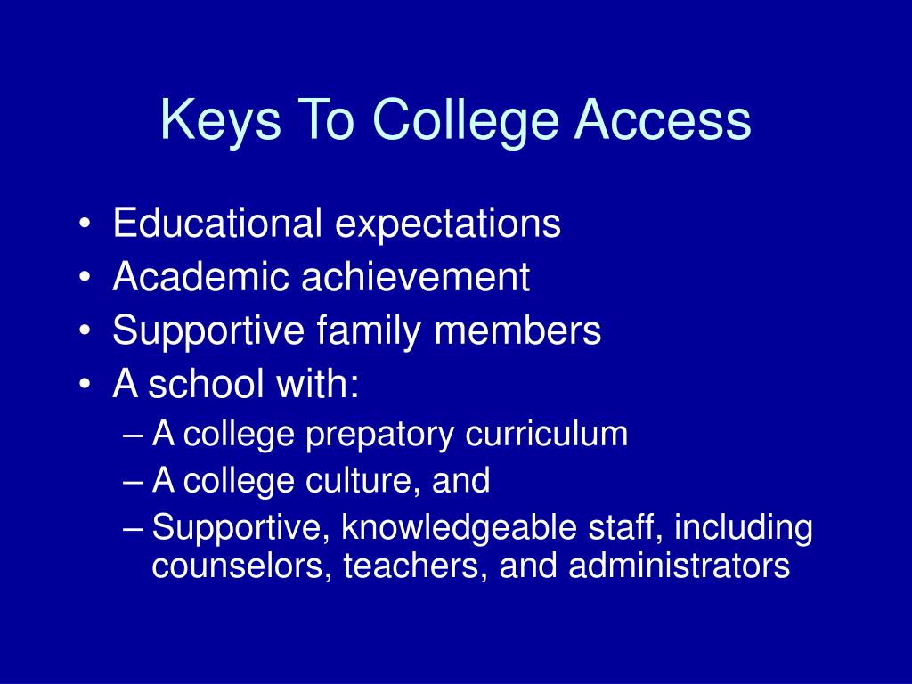 Keys To College Access