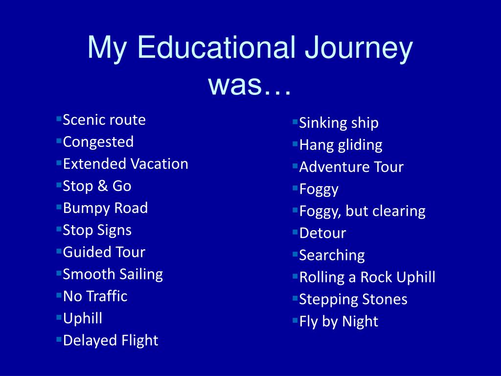 My Educational Journey was…
