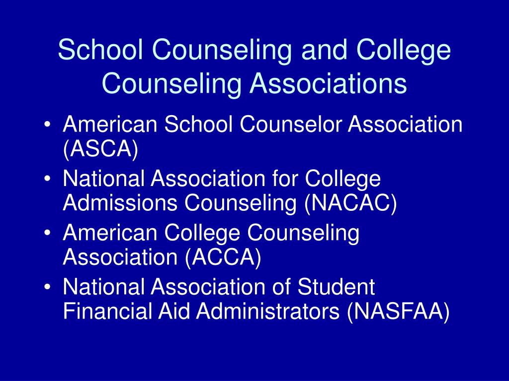 School Counseling and College Counseling Associations