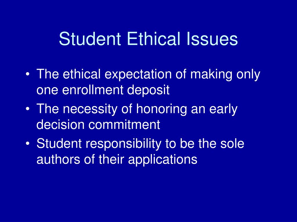 Student Ethical Issues