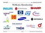 wimedia membership