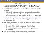 admission overview nescac22