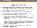 admission overview8