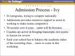 admission process ivy