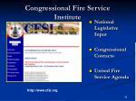 congressional fire service institute