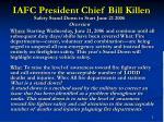 iafc president chief bill killen