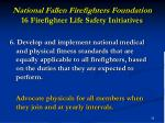 national fallen firefighters foundation 16 firefighter life safety initiatives25