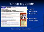 niosh report bbp