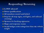 responding returning